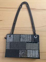 Handtasche silber schwarz Zara neuwertig