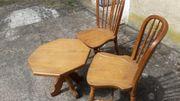 Stühle und Tisch Eiche rustikal