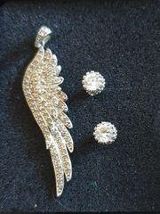 Flügelanhänger mit 2 Ohrringen