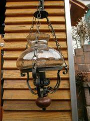 rustikale elektrische Lampe aus Stahl