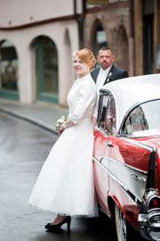Brautkleid im Stil der 50er