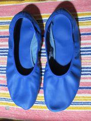 Gymnastikschläppchen blau