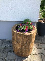 Holzstamm Eiche massiv Blumenkübel