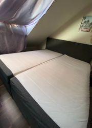 Bett grau 180 cm