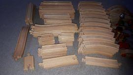 Holzspielzeug - Eisenbahn Holz Set gross Schienen