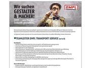Teamleiter EMPL Transport Service m