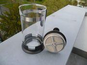 Kaffee- Teebereiter Glas Edelstahl 1