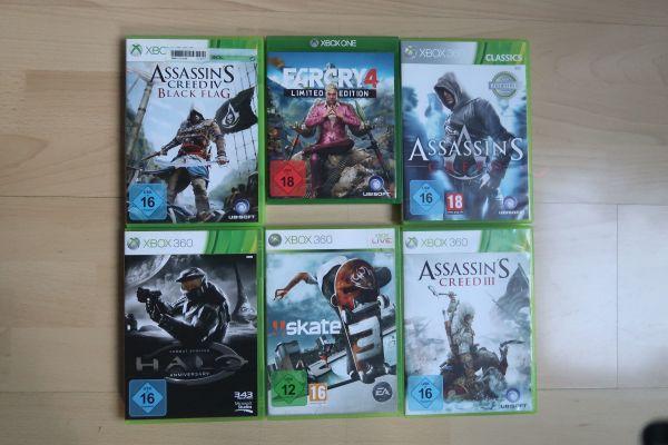 Diverse 6 Spiele für Xbox