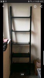 Leiterregal Dekoregal Bücherregal schwarz