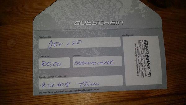 Gutschein Wert 700EUR für mind