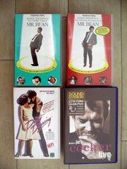 Vier VHS Kauf-Videocassetten zu verschenken