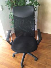 Schreibtischstuhl höhenverstellbar schwarz