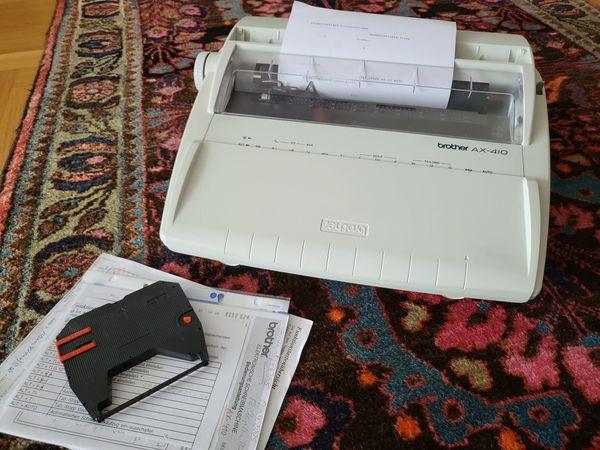 Schreibmaschine brother AX-410 Typenrad - Top