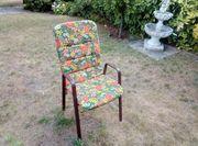 6 Gartenstühle mit Polsterauflage