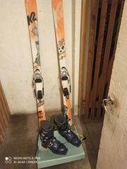 Touren Telemark Ski mit Schuhen