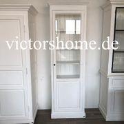 Weisse Landhausvitrine Glasschrank Vitrinenschrank B