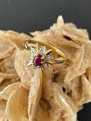 Rubin Diamant Ring in 585