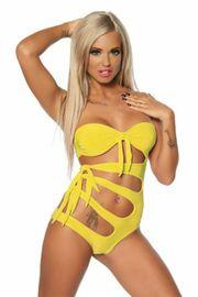 Monokini Badeanzug gelb Gr XL