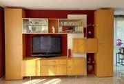 hochwertige und moderne Wohnwand aus