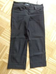 Hose Stoffhose 7 8-Stretch-Hose schwarz