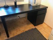 Schreibtisch schwarzbraun top Zustand