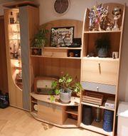 Wohnwand Schrankwand Holz