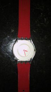 swatch Armbanduhr Damen rot sehr