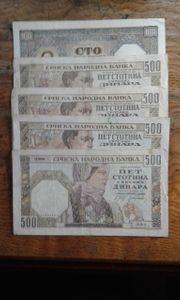 Banknoten Deutsche Besetzung WK