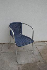 6 x Bistro Stühle Chrom