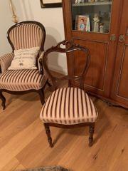 4 antike Stühle Ballonstühle Polsterstühle