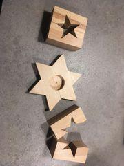 Schönes Holzspielzeug für Adventskalender
