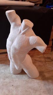 Torso Skulptur Styropor Mann Figur