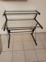 Schreibtisch Tisch aus Glas und