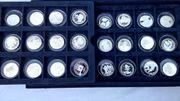 24 Silber-Münzen 50 Jahre Deutschland
