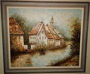 Ölbilder mit echtem Holzrahmen