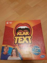 klar Text Spiel