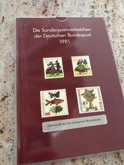 BRD Sonderpostwertzeichen 1981 Briefmarken Deutschland