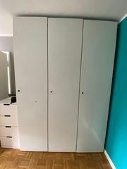 Interlübke Designer Kleiderschrank weiß 3-teilig