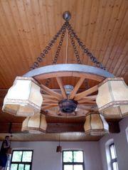Kutschen Holzrad mit Lampen