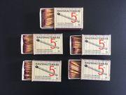 Haushaltsware Streichholzschachtel 5 Pfennig Original