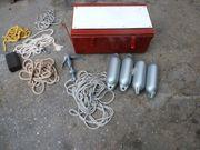 Bootskiste Anker Fender Seile usw