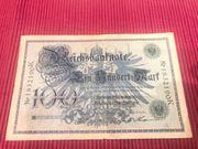 100 Mark 1908 Reichsbanknote Einhundert