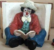 Gilde Clown Buchstütze -Der Belesene