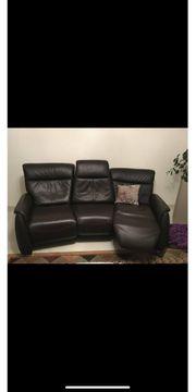 Verkaufe echte Leder Couch mit