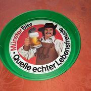 Ulmer Münster Bier Tablett Brauerei