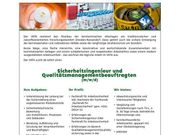 Sicherheitsingenieur und Qualitätsmanagementbeauftragter m w