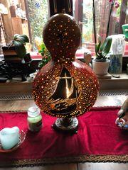 Kürbis Lampe Kalebasse Maritim Handarbeit