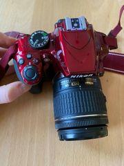 Nikon D3400 ROT Spiegelreflexkamera Kit