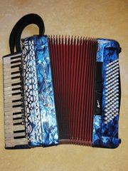 Akkordeon Borsini Vienna 374 blau