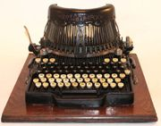 Schreibmaschine Bar-Lock Modell 8 1899